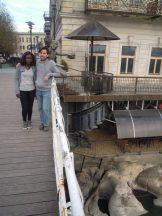 Avec Esther sur le White bridge